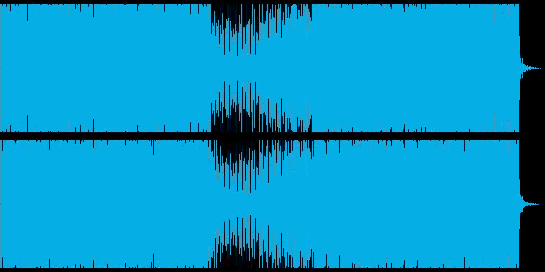 オシャレな4つ打ちピアノハウス-ロングの再生済みの波形