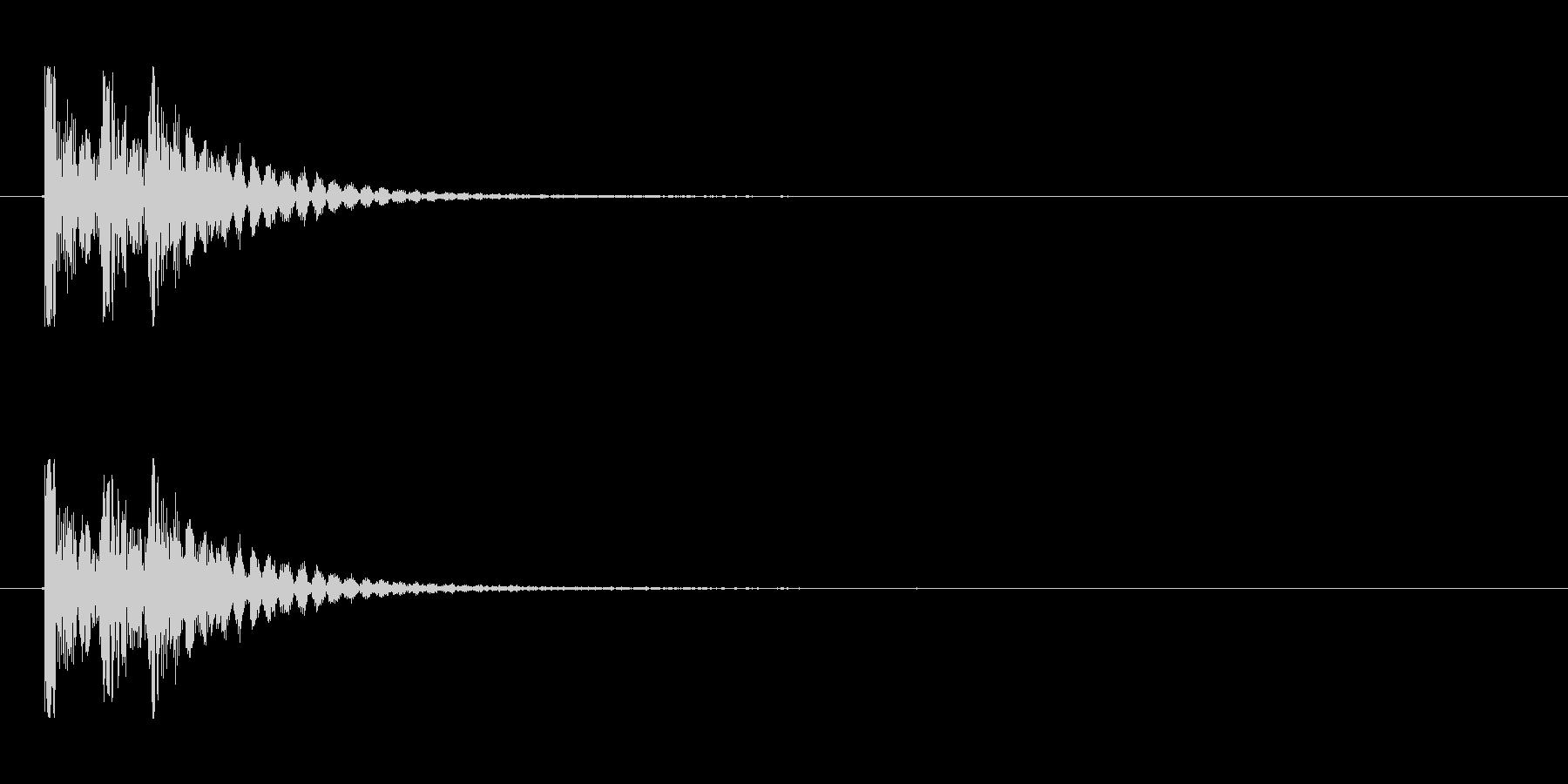 【衝撃03-3】の未再生の波形