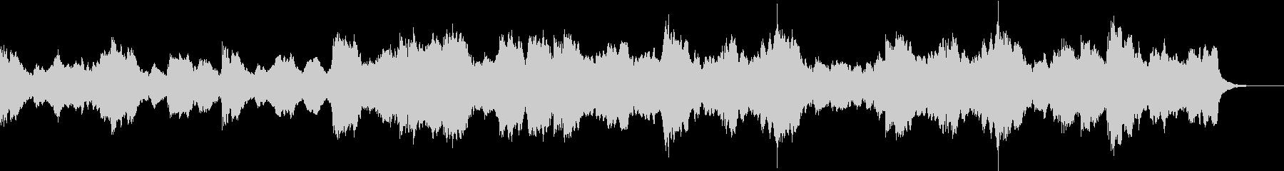 重厚で地響きのようなチェロライクなBGMの未再生の波形