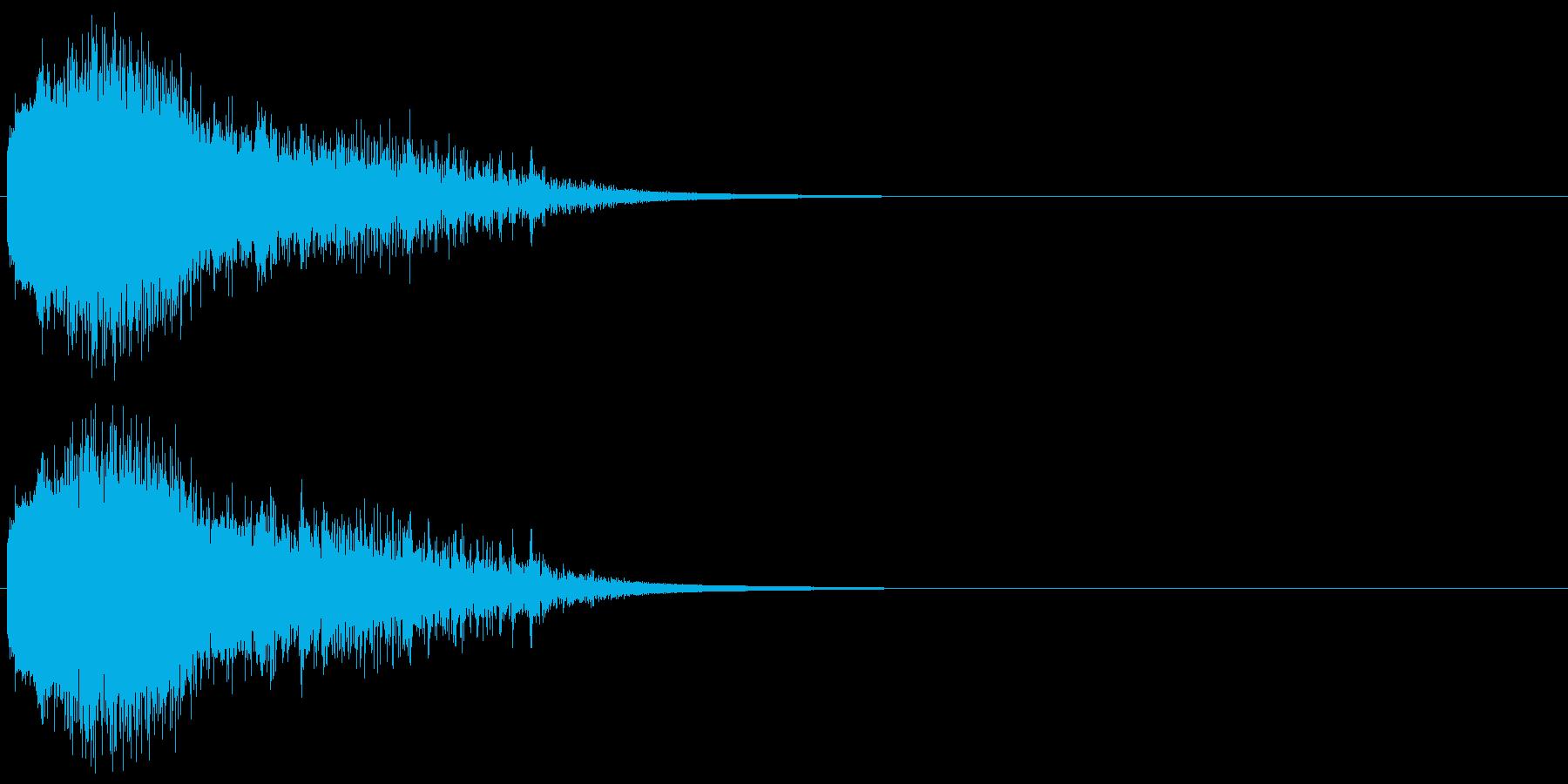 注意を引くインパクトのある音#1の再生済みの波形