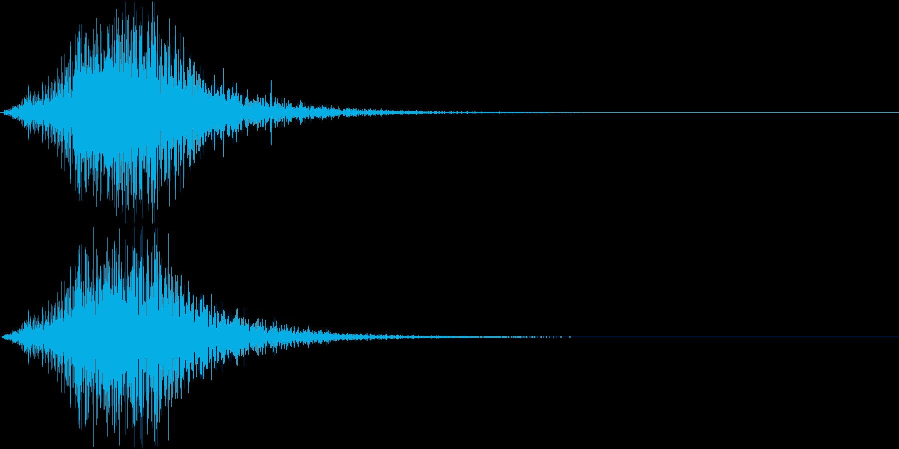 Battle 戦闘エフェクト音 9の再生済みの波形
