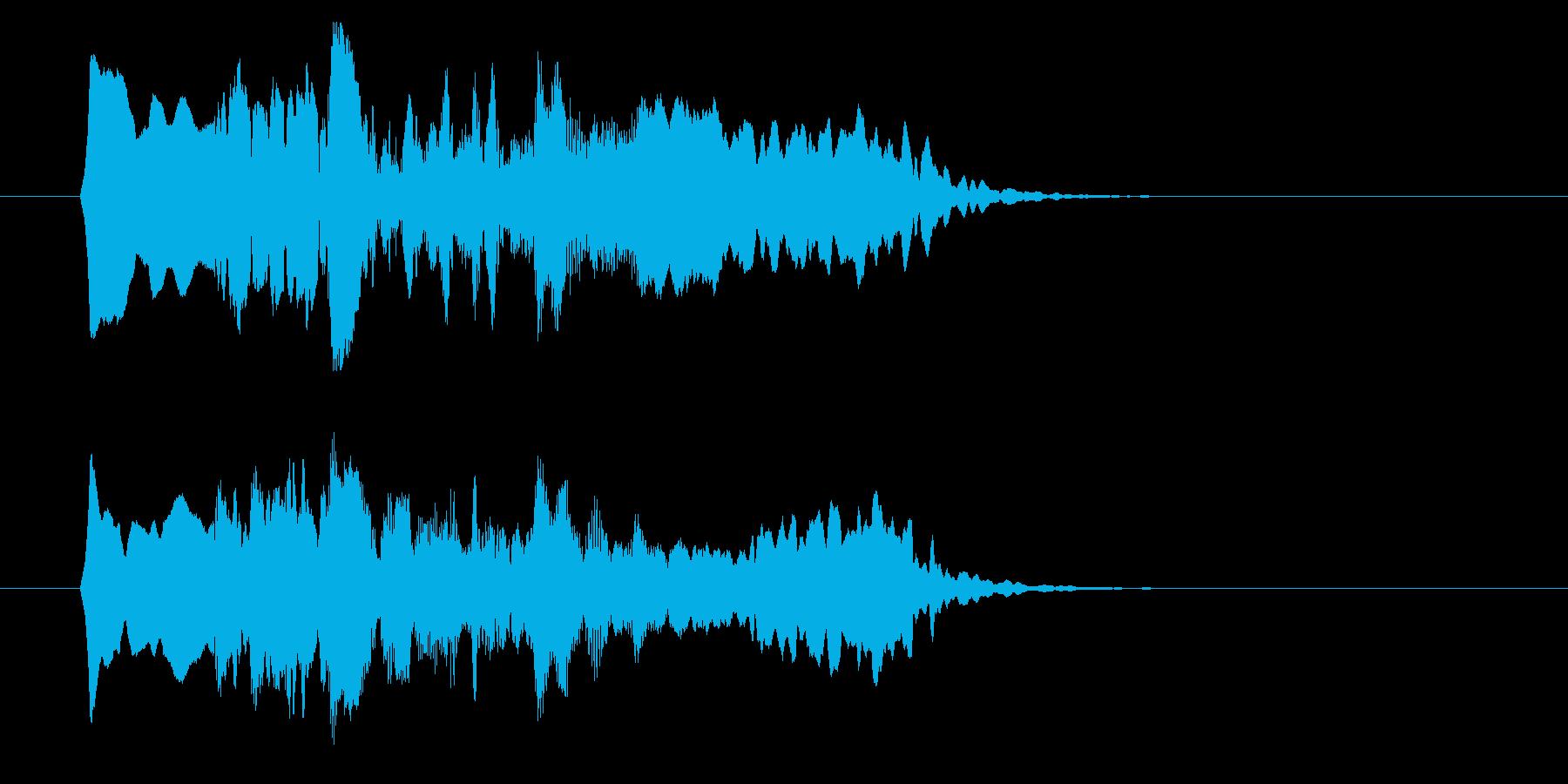 和の素材_尺八フレーズ1の再生済みの波形