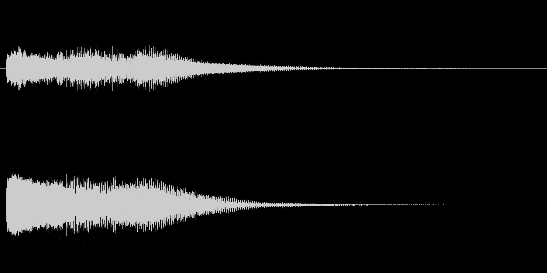 ピンポーン  ピンポン  玄関の未再生の波形