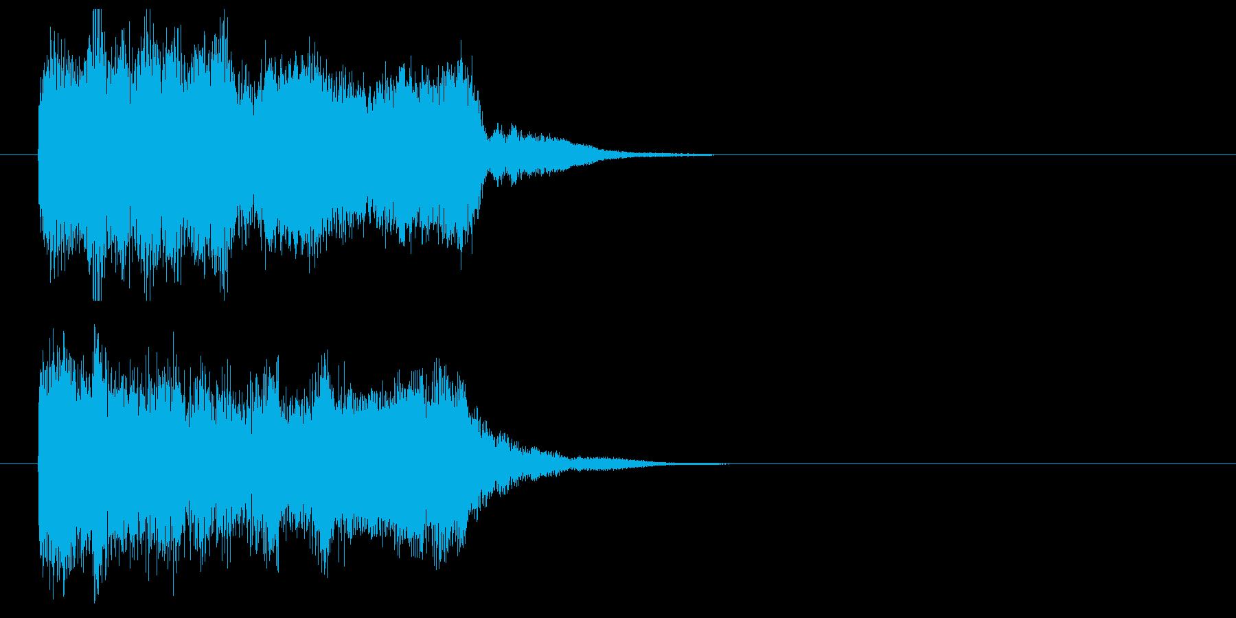 緩やかで繊細なシンセポップジングルの再生済みの波形