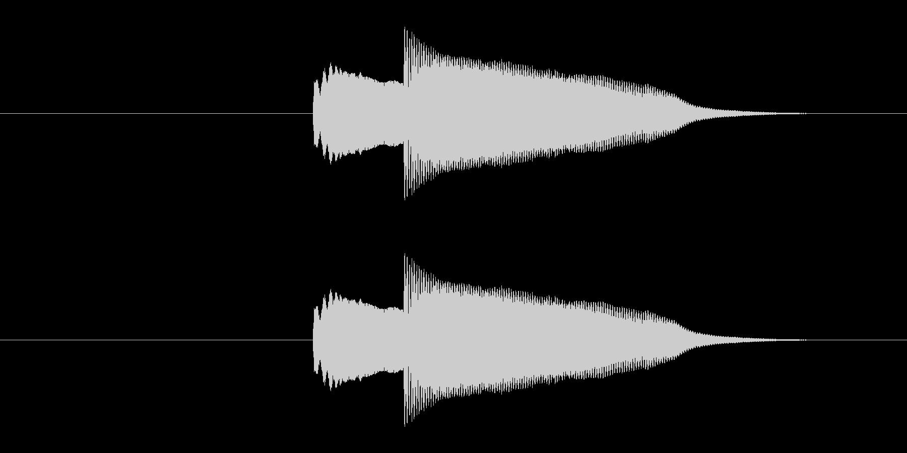 クイズの正解やシステム効果音の決定など…の未再生の波形