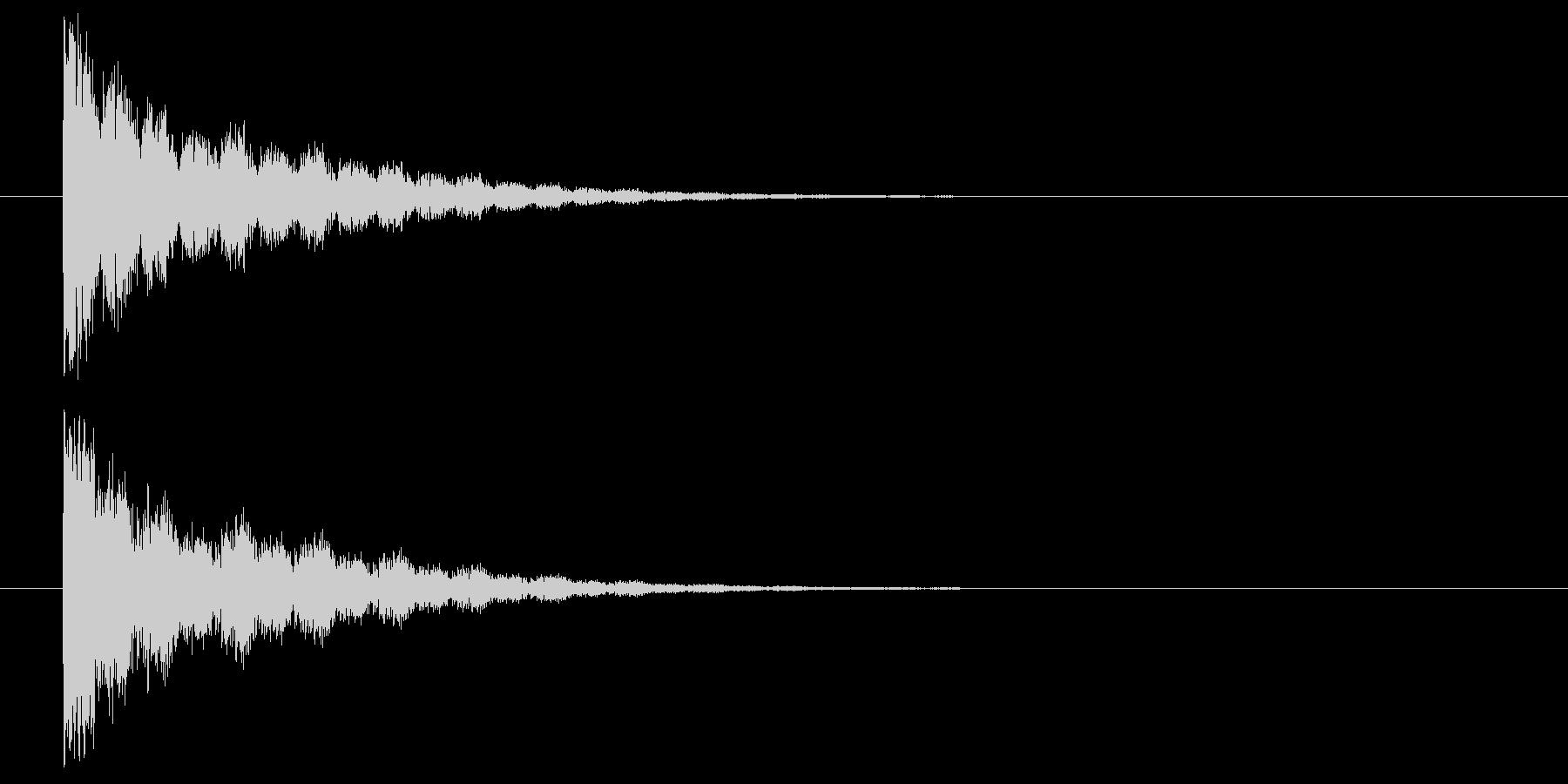 鋭いビーム発射の未再生の波形