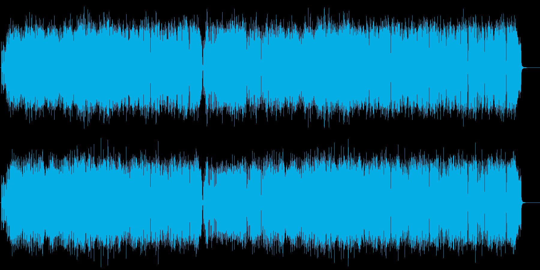 ブラスとピアノが中心の元気な曲。の再生済みの波形