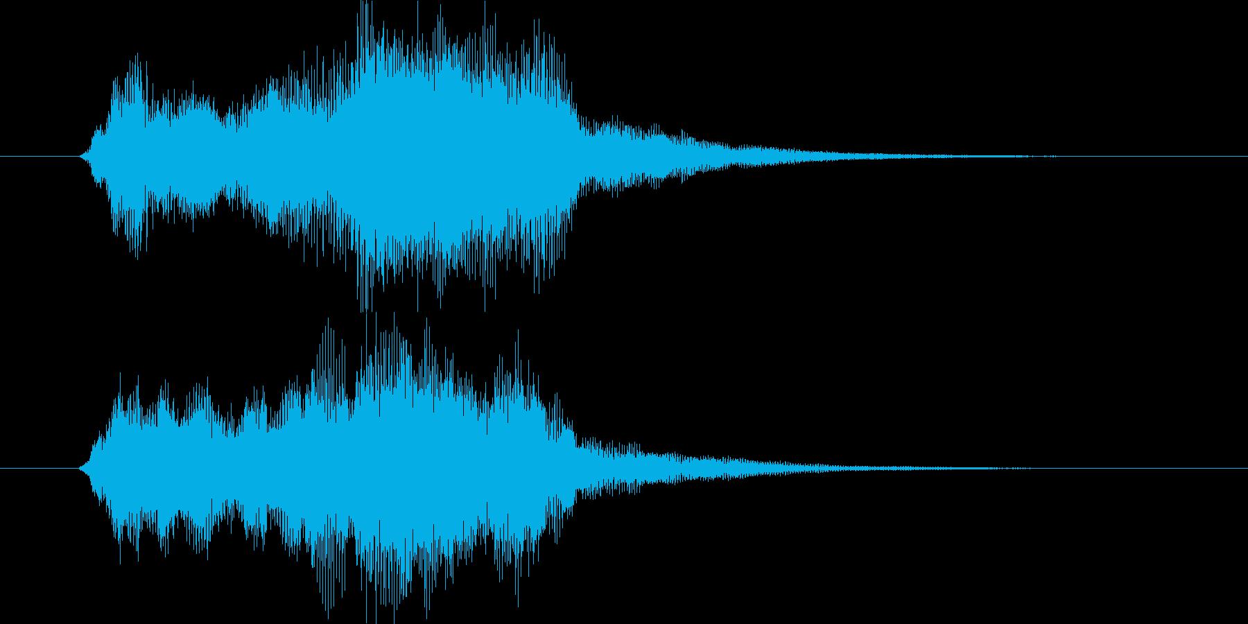 オーケストラのアイキャッチ・イベント発生の再生済みの波形