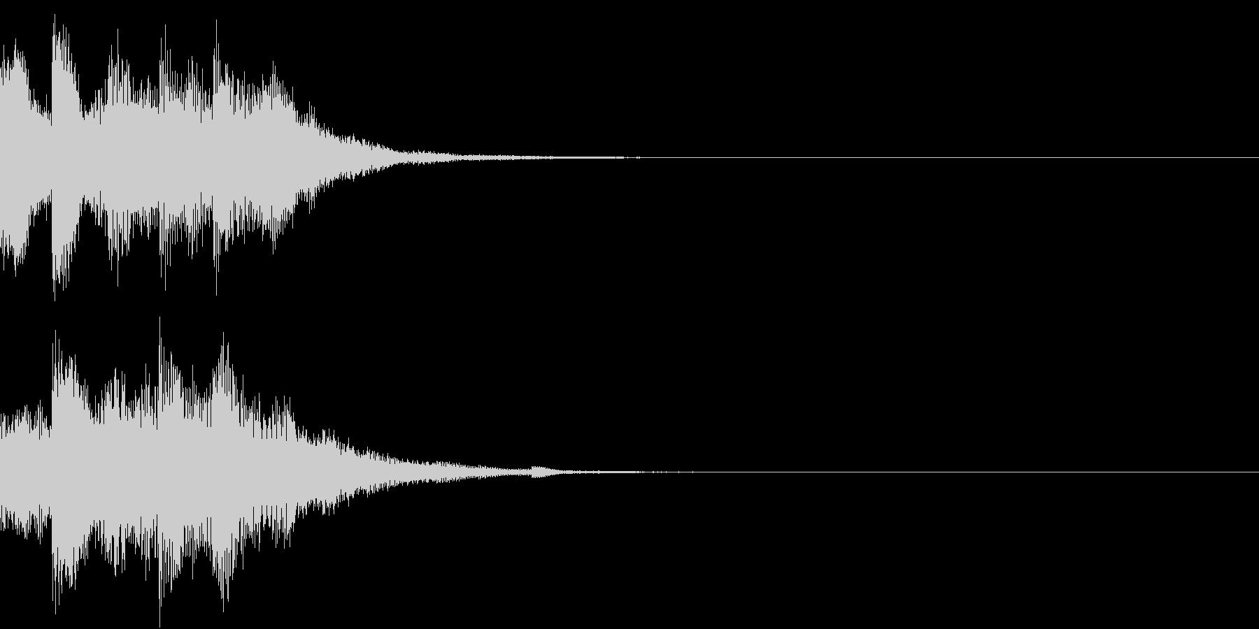 クリック キラリン 日本 和風 琴 23の未再生の波形