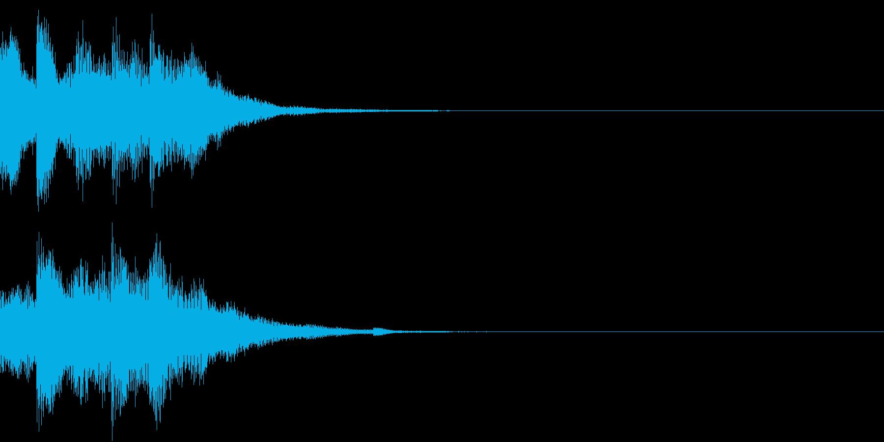 クリック キラリン 日本 和風 琴 23の再生済みの波形