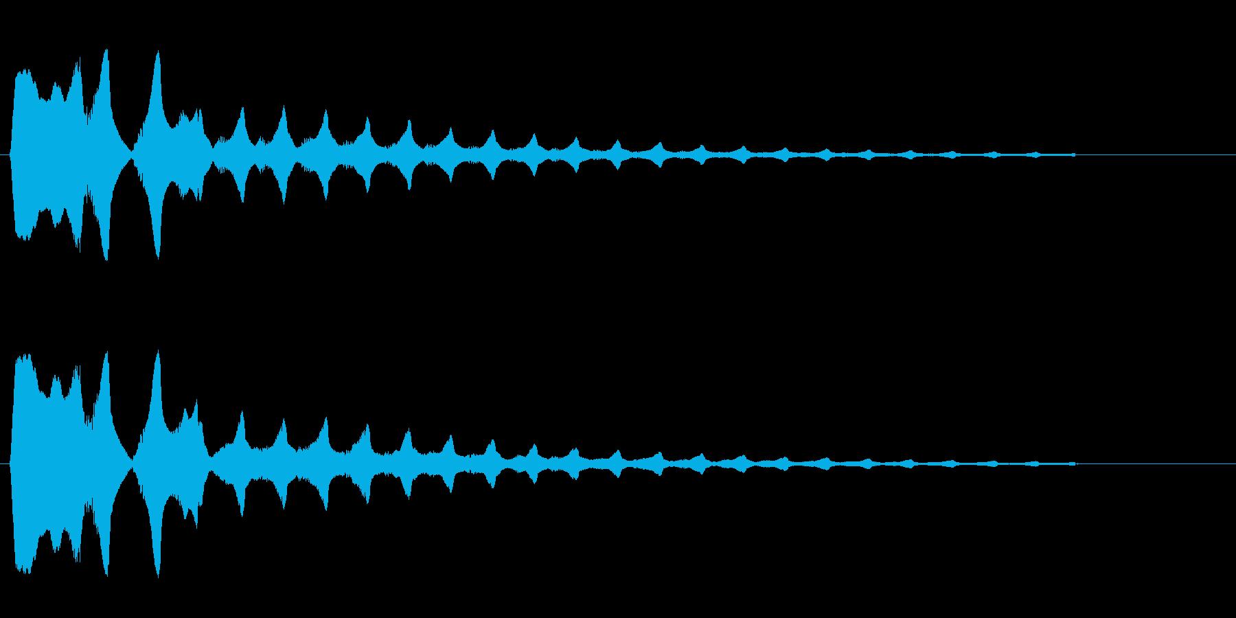 キラーン(金属系音)高音の再生済みの波形