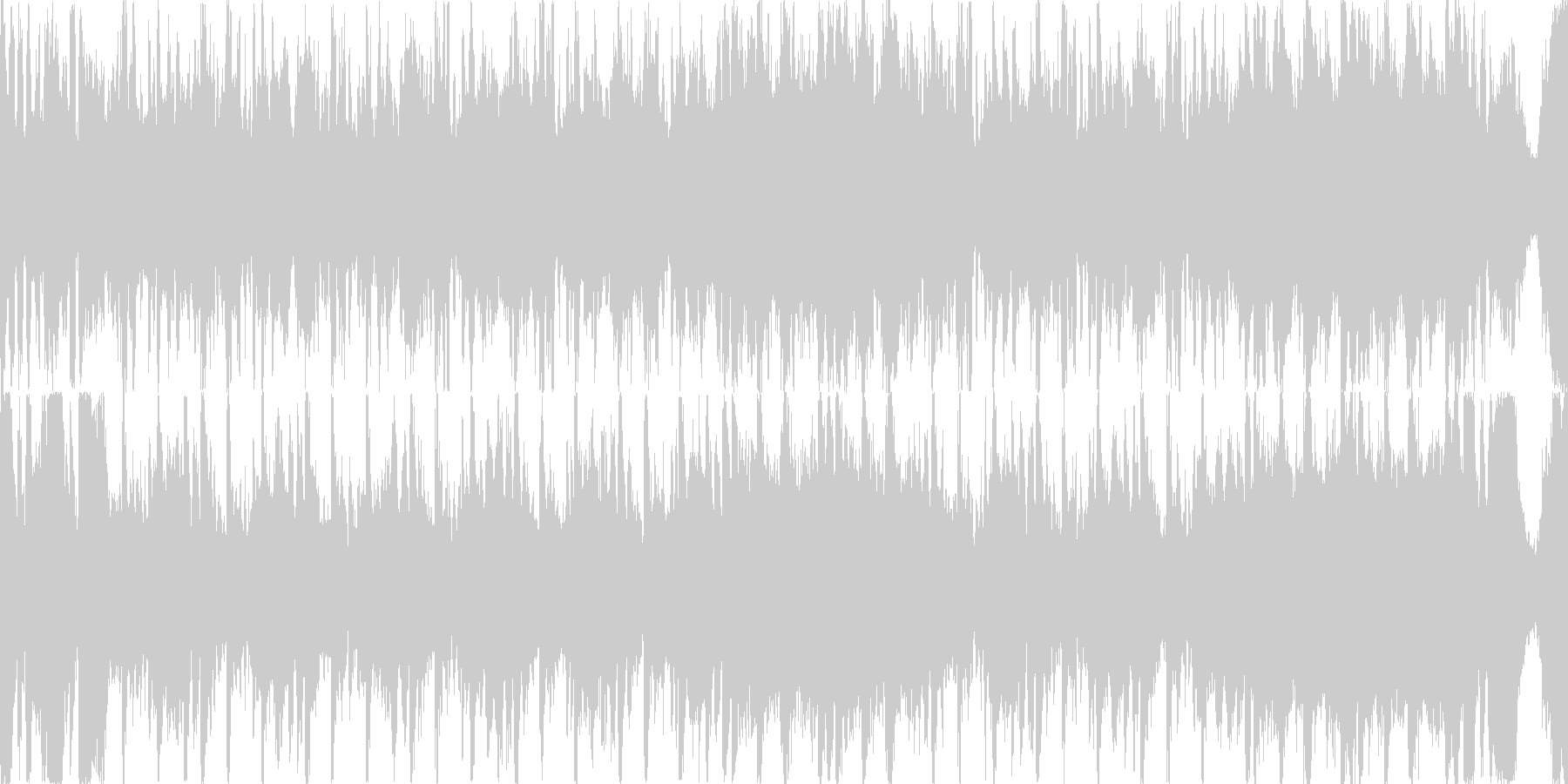 緊張感のあるクラシック曲の未再生の波形