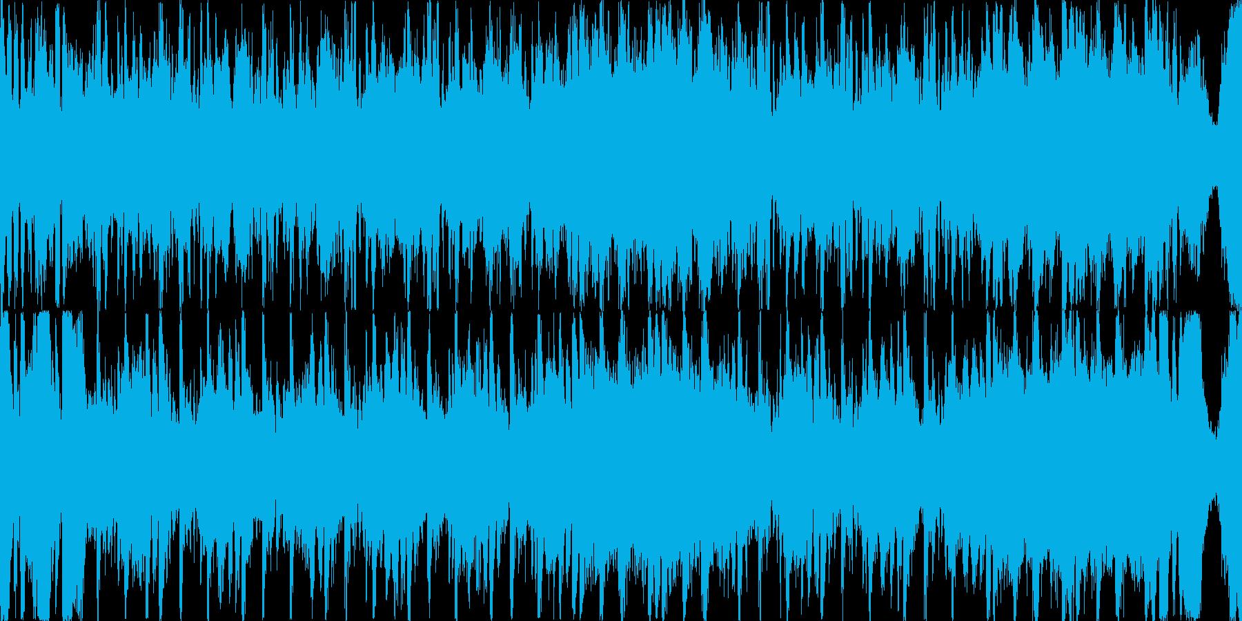 緊張感のあるクラシック曲の再生済みの波形