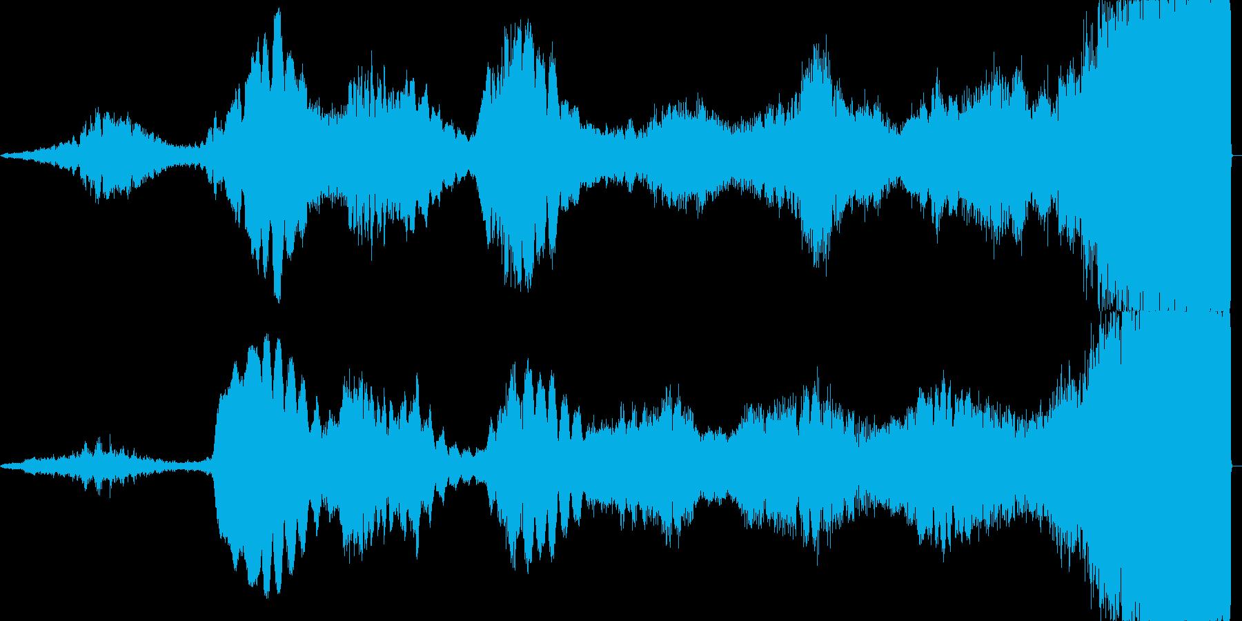 不気味なヒーリングミュージックの再生済みの波形