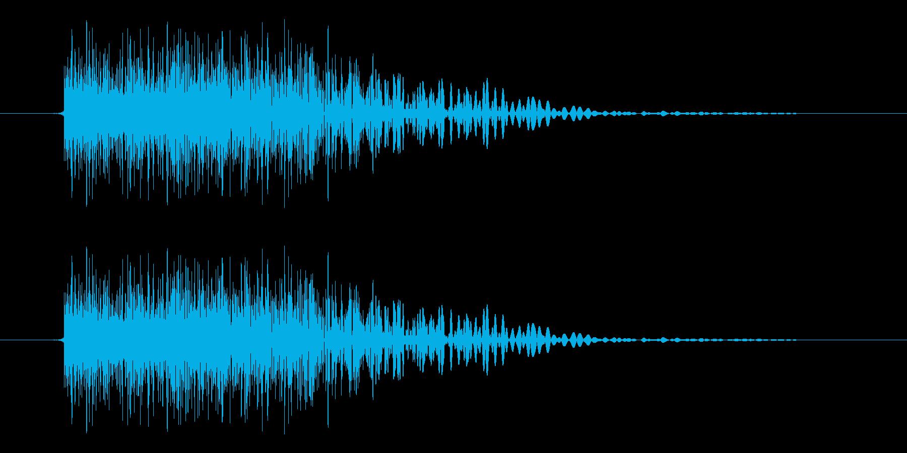 ビュの再生済みの波形