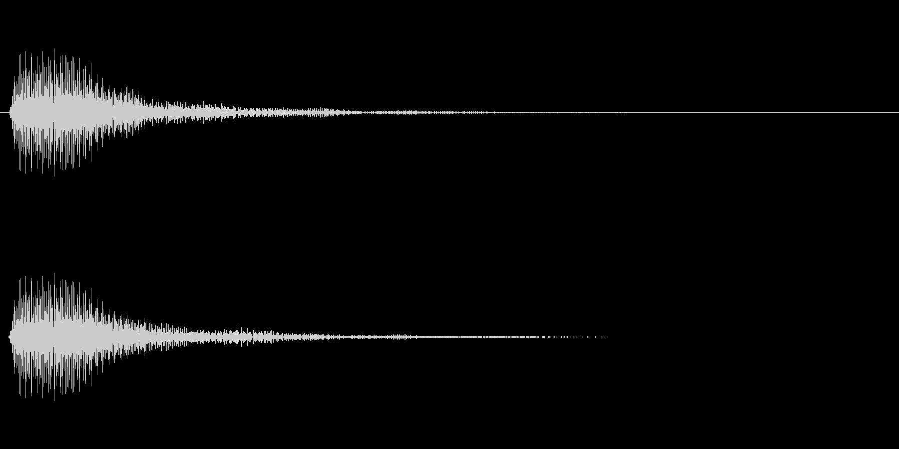 決定音(リバーブのかかった荘厳な音)の未再生の波形