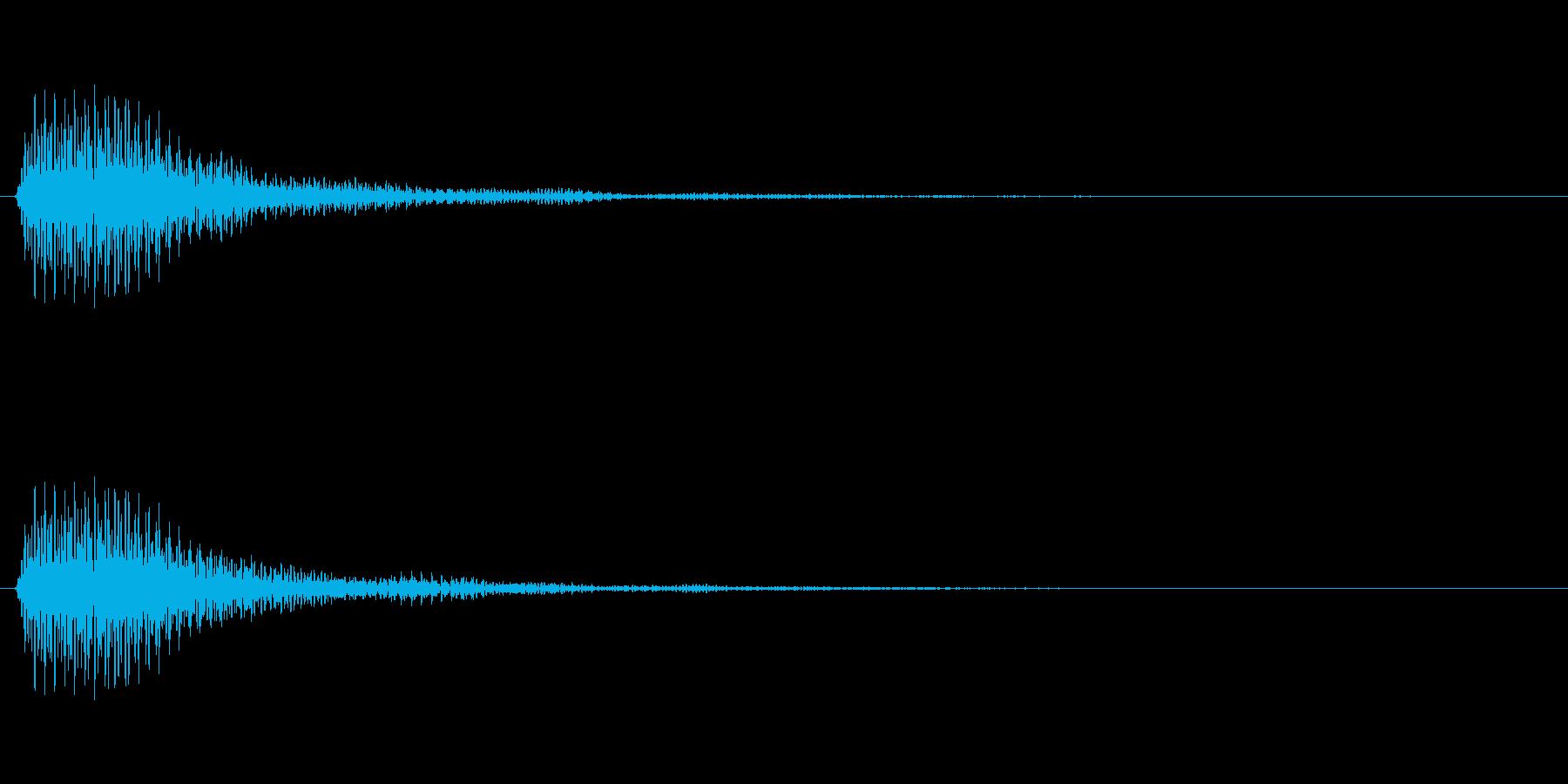 決定音(リバーブのかかった荘厳な音)の再生済みの波形