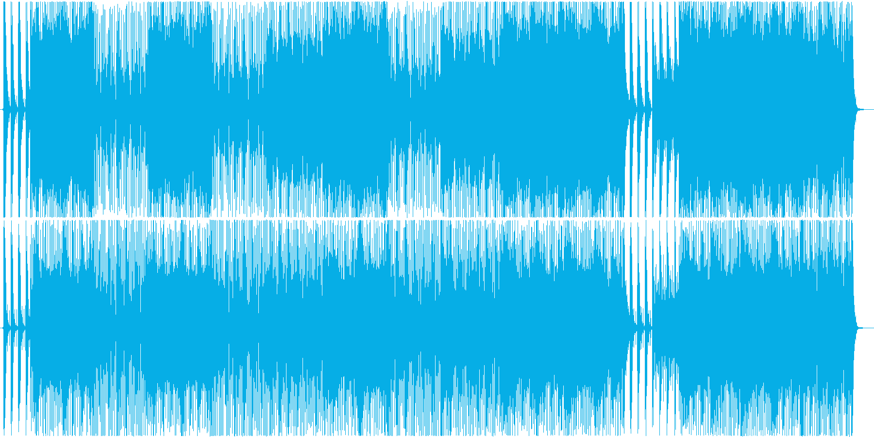 スリル満点のスカ風ロック♪の再生済みの波形