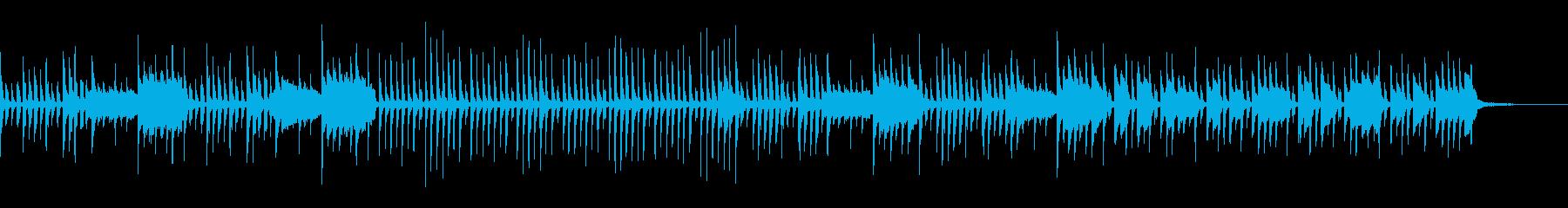 ゲームライクの牧歌的なアコースティックの再生済みの波形