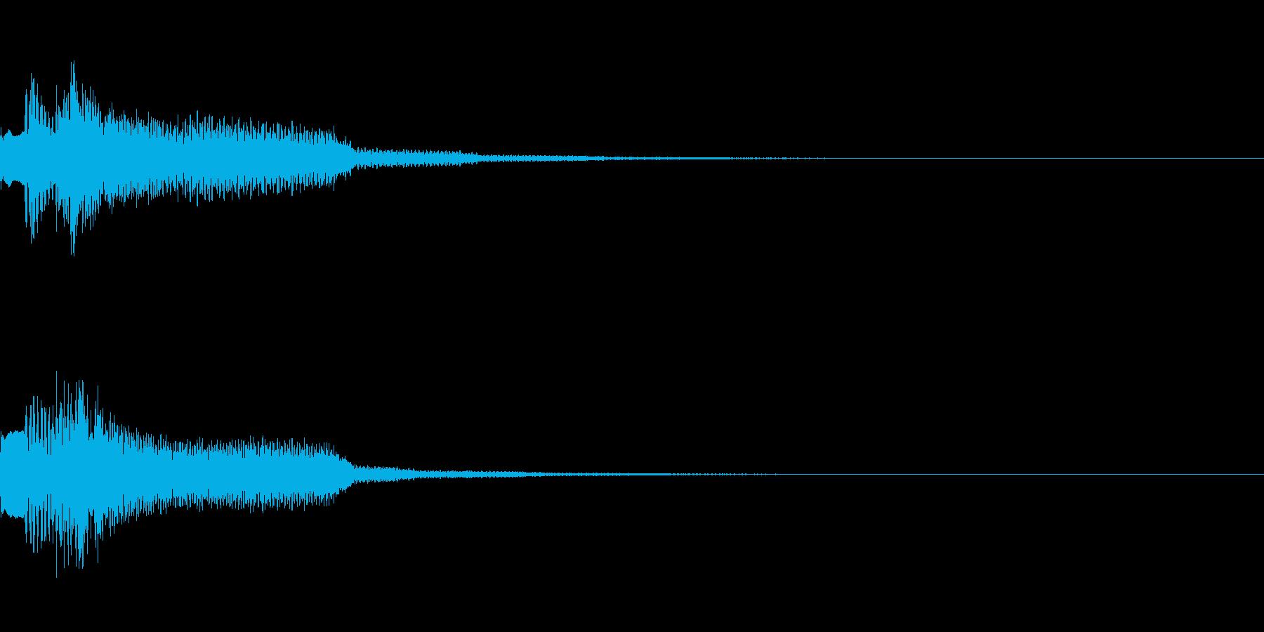 ひらめきジングルの再生済みの波形
