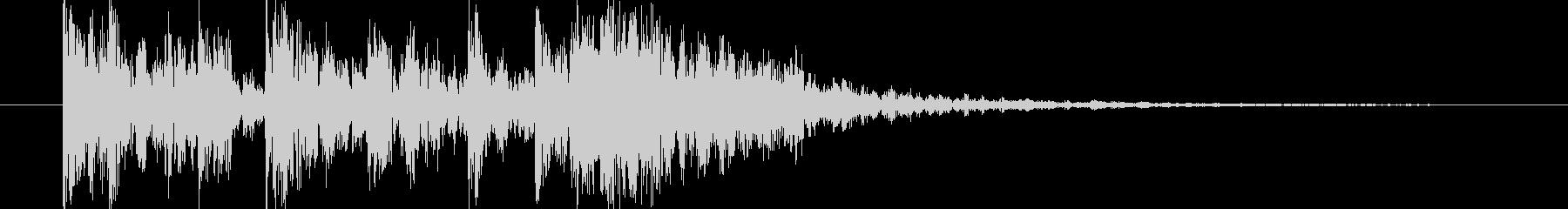 短い和風の効果音 1の未再生の波形