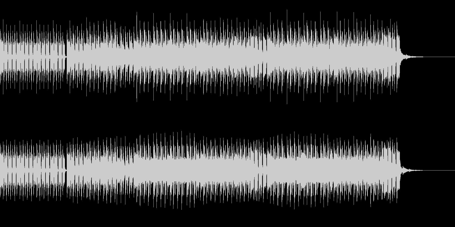 ゆるゆるEDM系ループBGMの未再生の波形