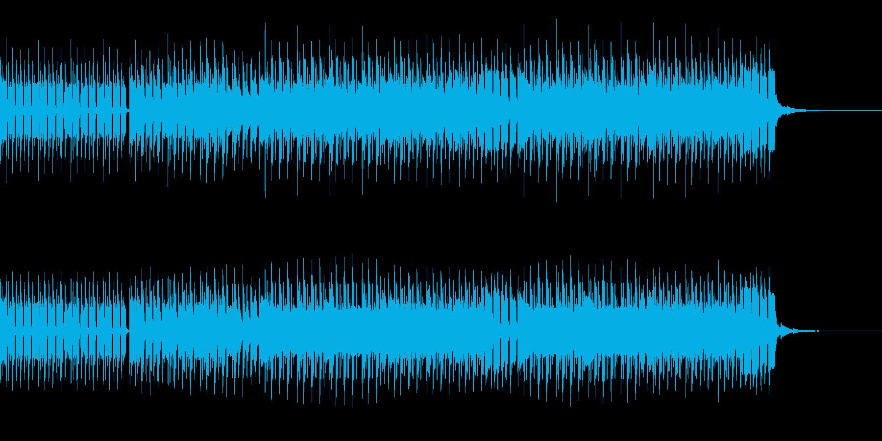 ゆるゆるEDM系ループBGMの再生済みの波形
