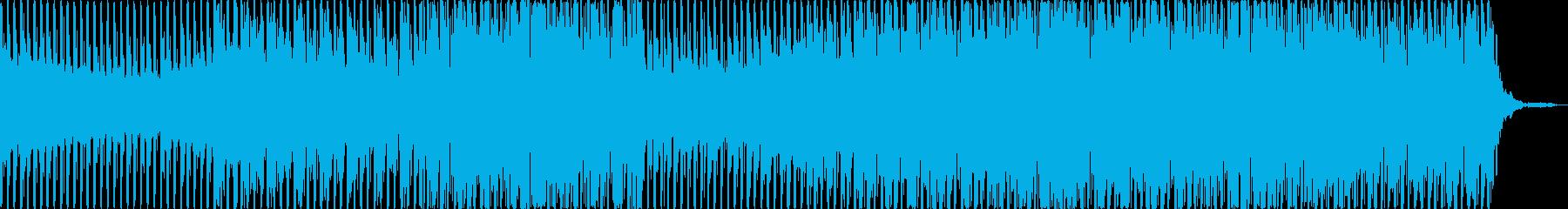 夜空や宇宙をゆっくり舞うテクノポップの再生済みの波形