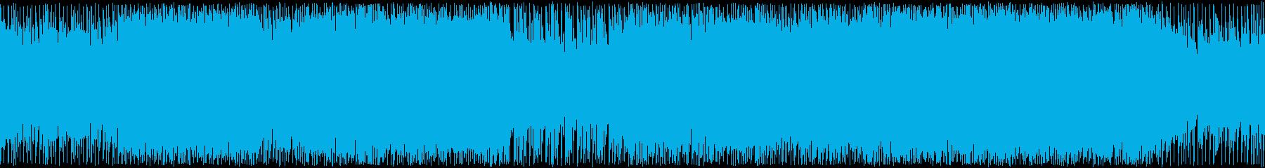 巨大ロボやマシンが飛び交う・躍動する曲の再生済みの波形