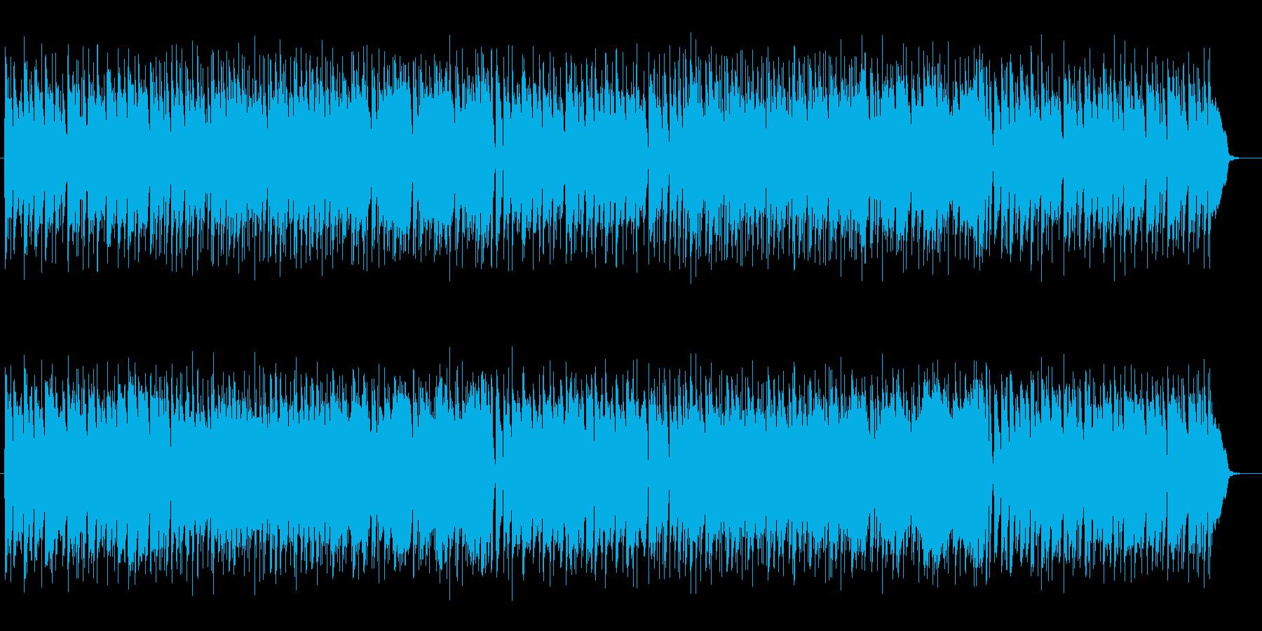 温かみのある優しいミュージックの再生済みの波形