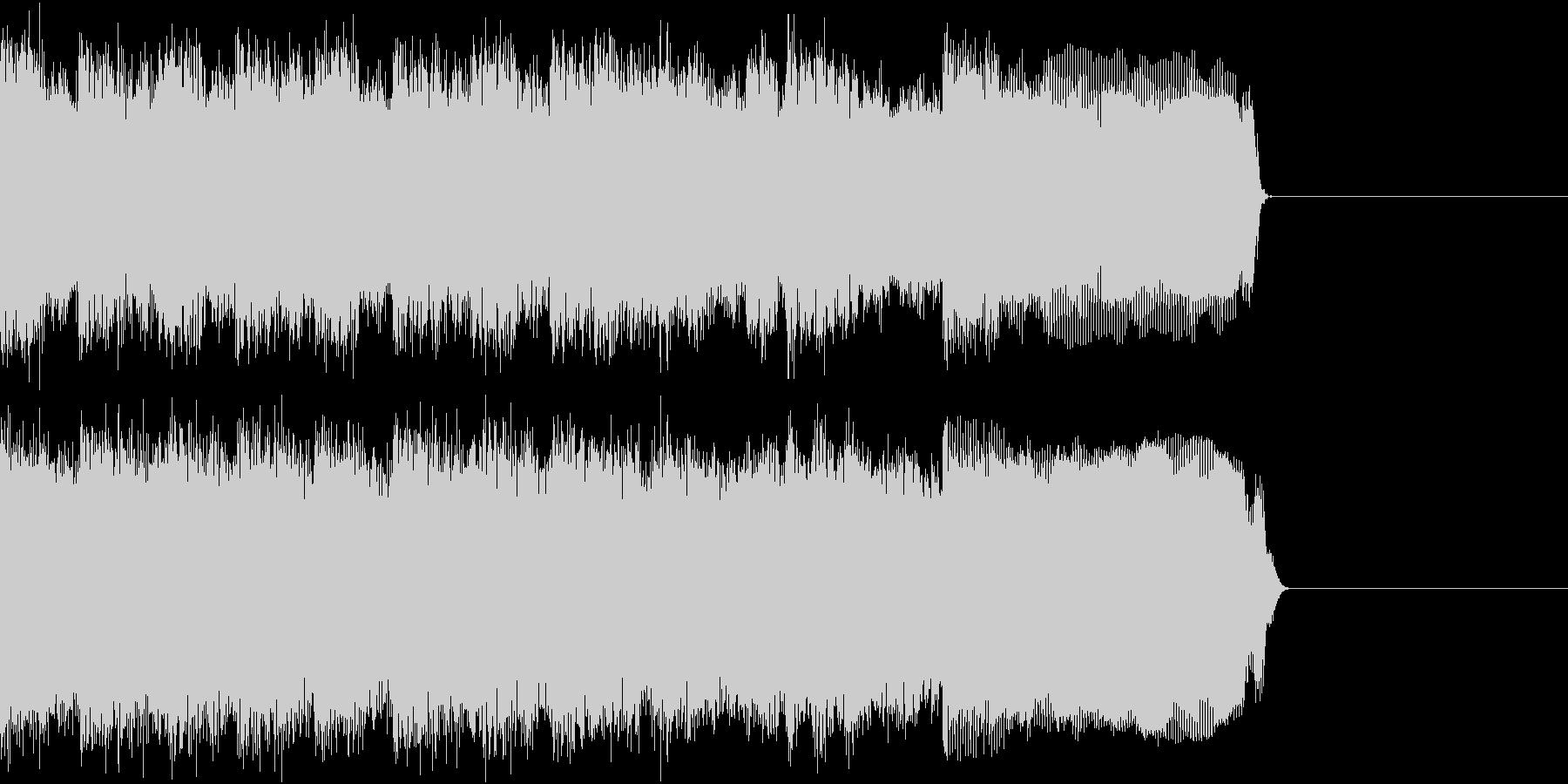 メタル ジングル ザクザク 生演奏の未再生の波形