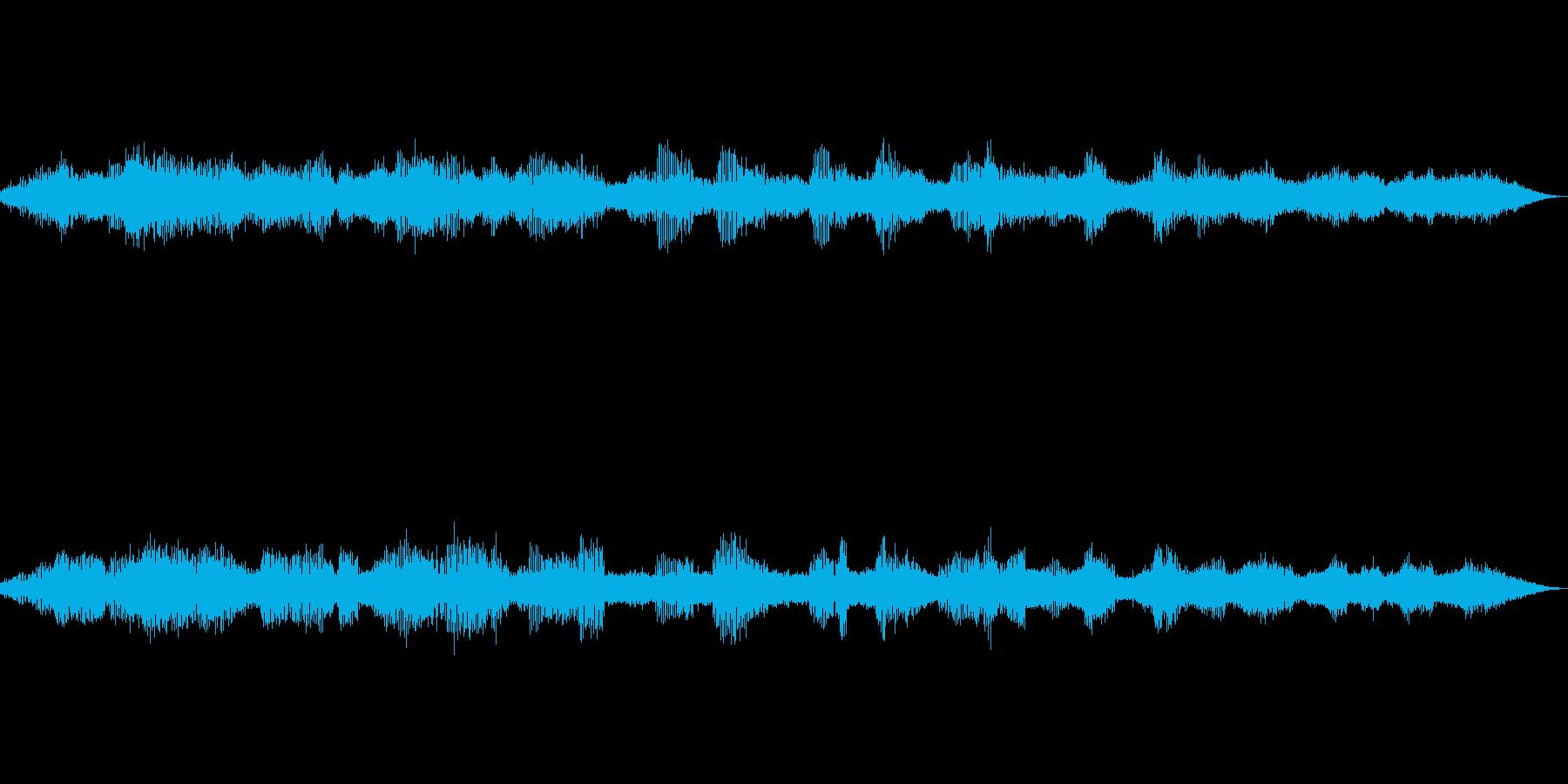 秋の虫鳴き声(環境音)の再生済みの波形