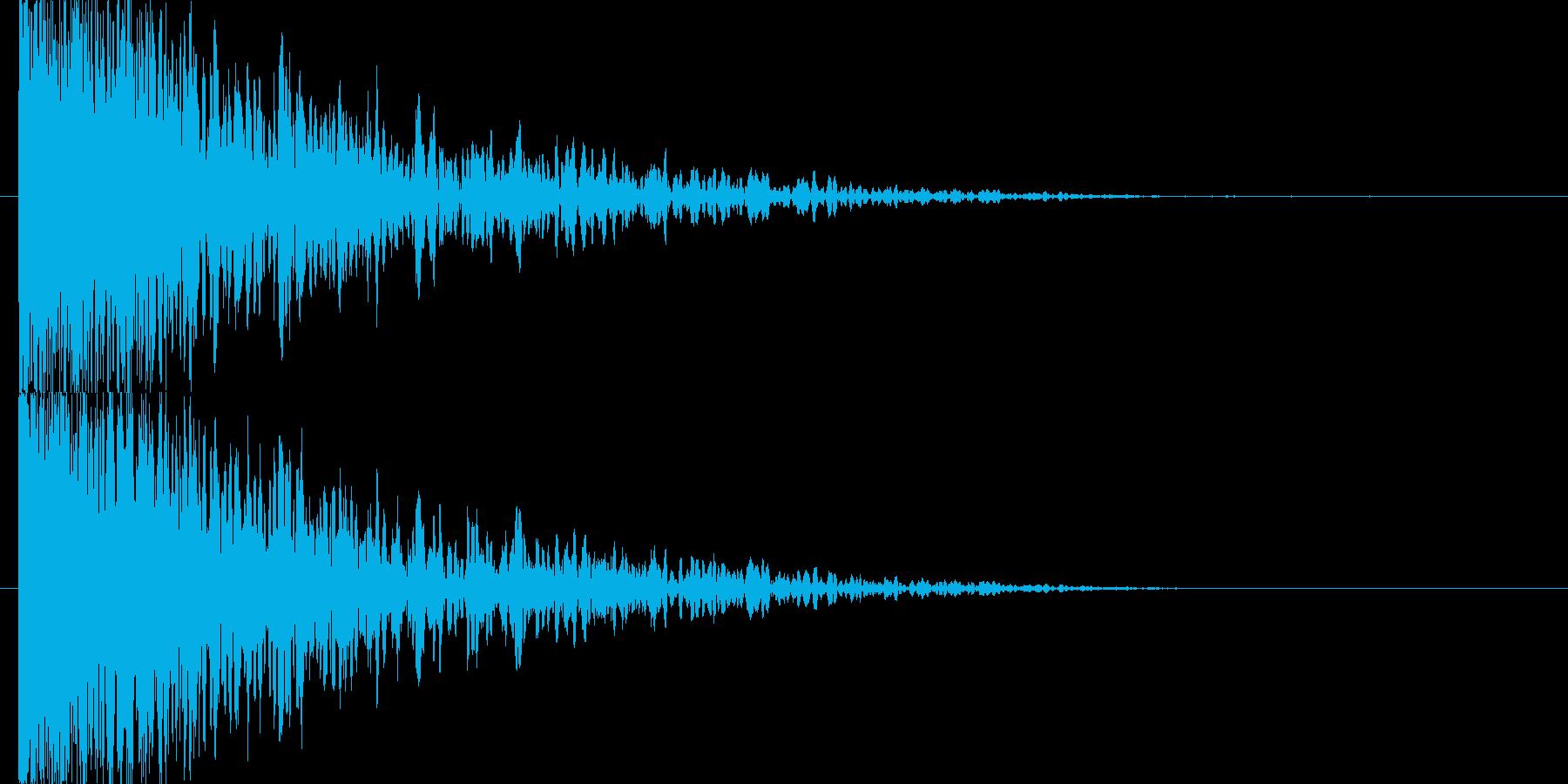 衝突音 爆発の再生済みの波形
