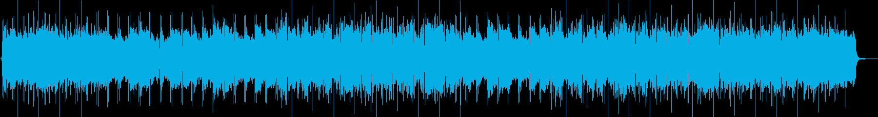 神聖な響きのある合唱団の音楽の再生済みの波形