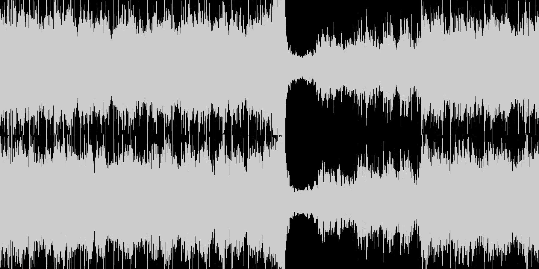 60秒ジャストのわくわくする楽しい曲の未再生の波形