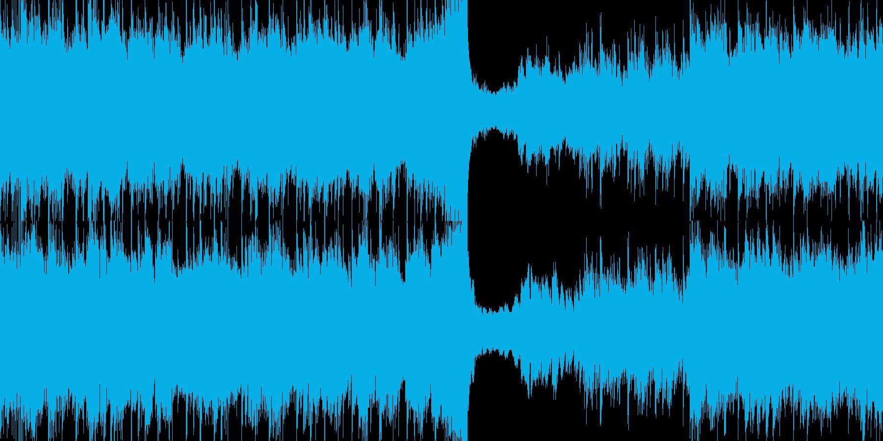 60秒ジャストのわくわくする楽しい曲の再生済みの波形