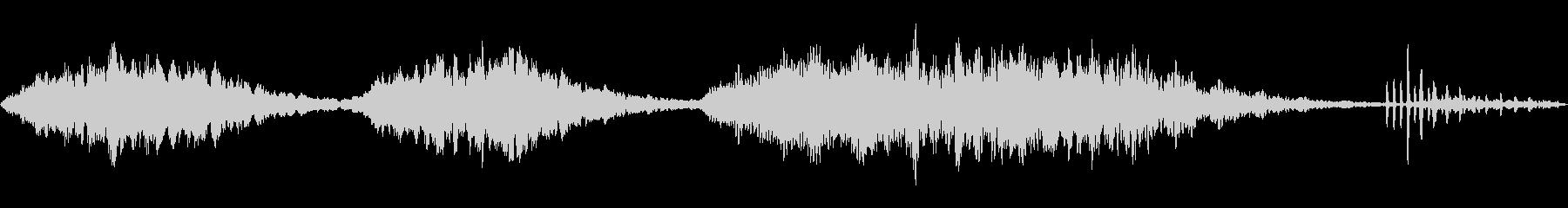 恐怖や不安を感じるシンプルなループBGMの未再生の波形