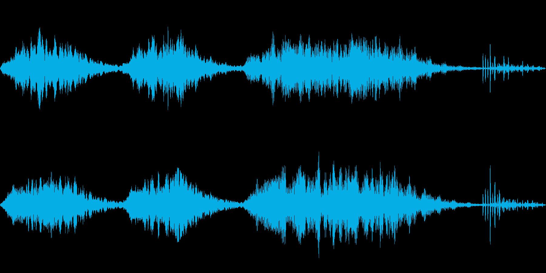 恐怖や不安を感じるシンプルなループBGMの再生済みの波形