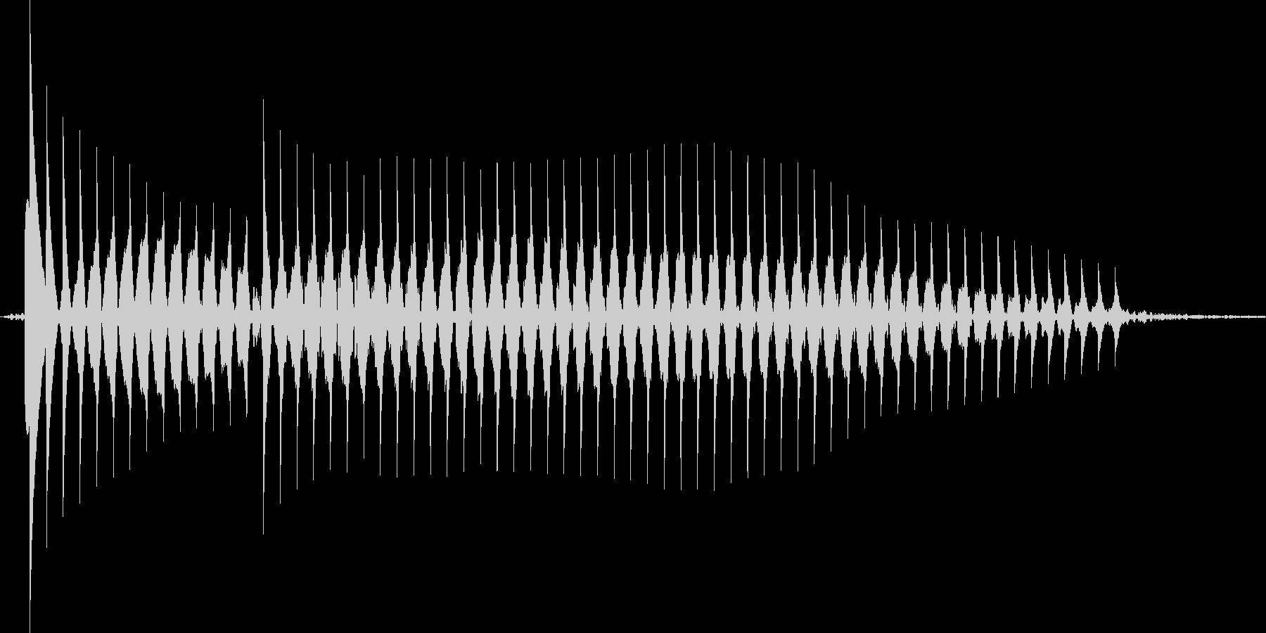 【クイズ】不正解音「ブッブー」可愛いの未再生の波形