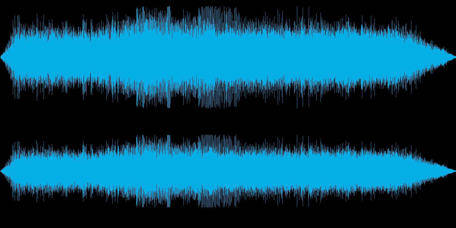 ギュイーン!チェーンソーの動作音の再生済みの波形
