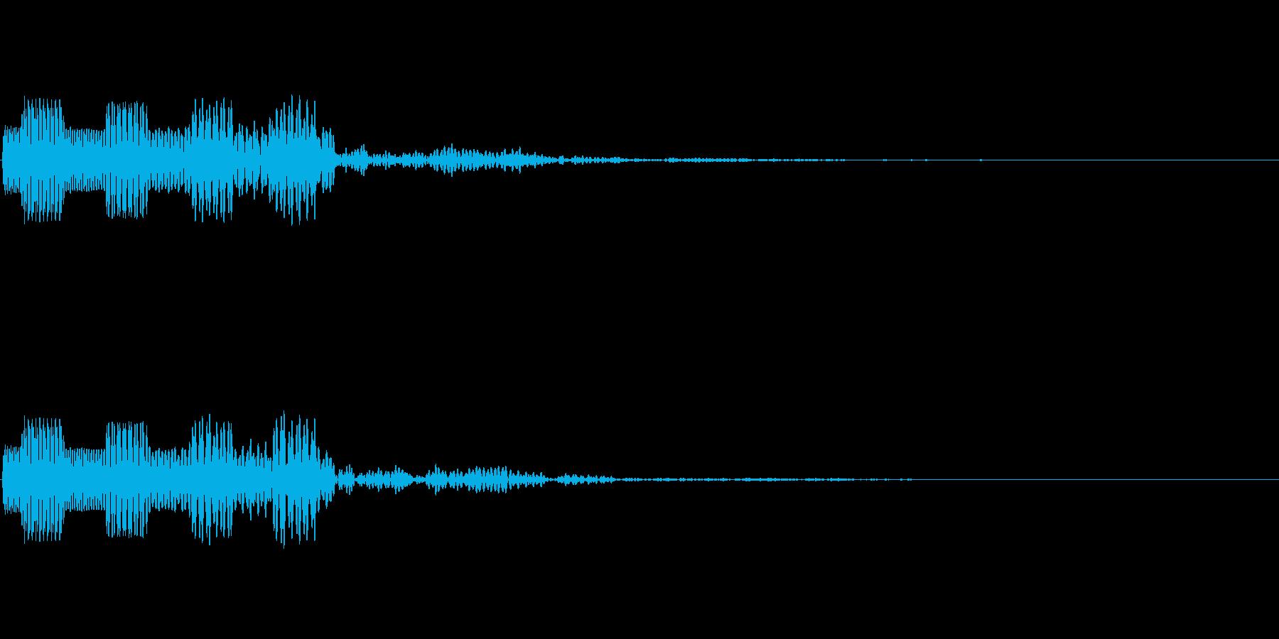 シュルン(ゲーム・アプリのキャンセル音)の再生済みの波形