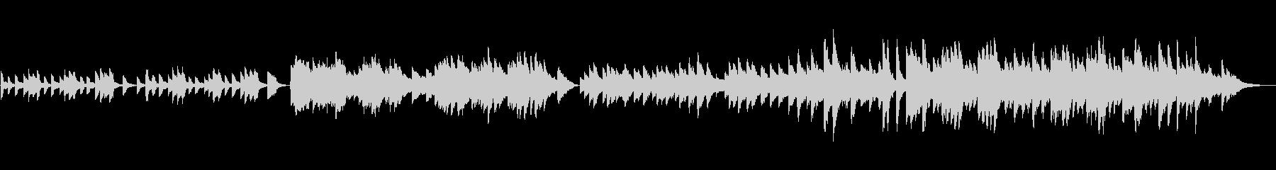 明るめのピアノソロBGM(約1分30秒)の未再生の波形