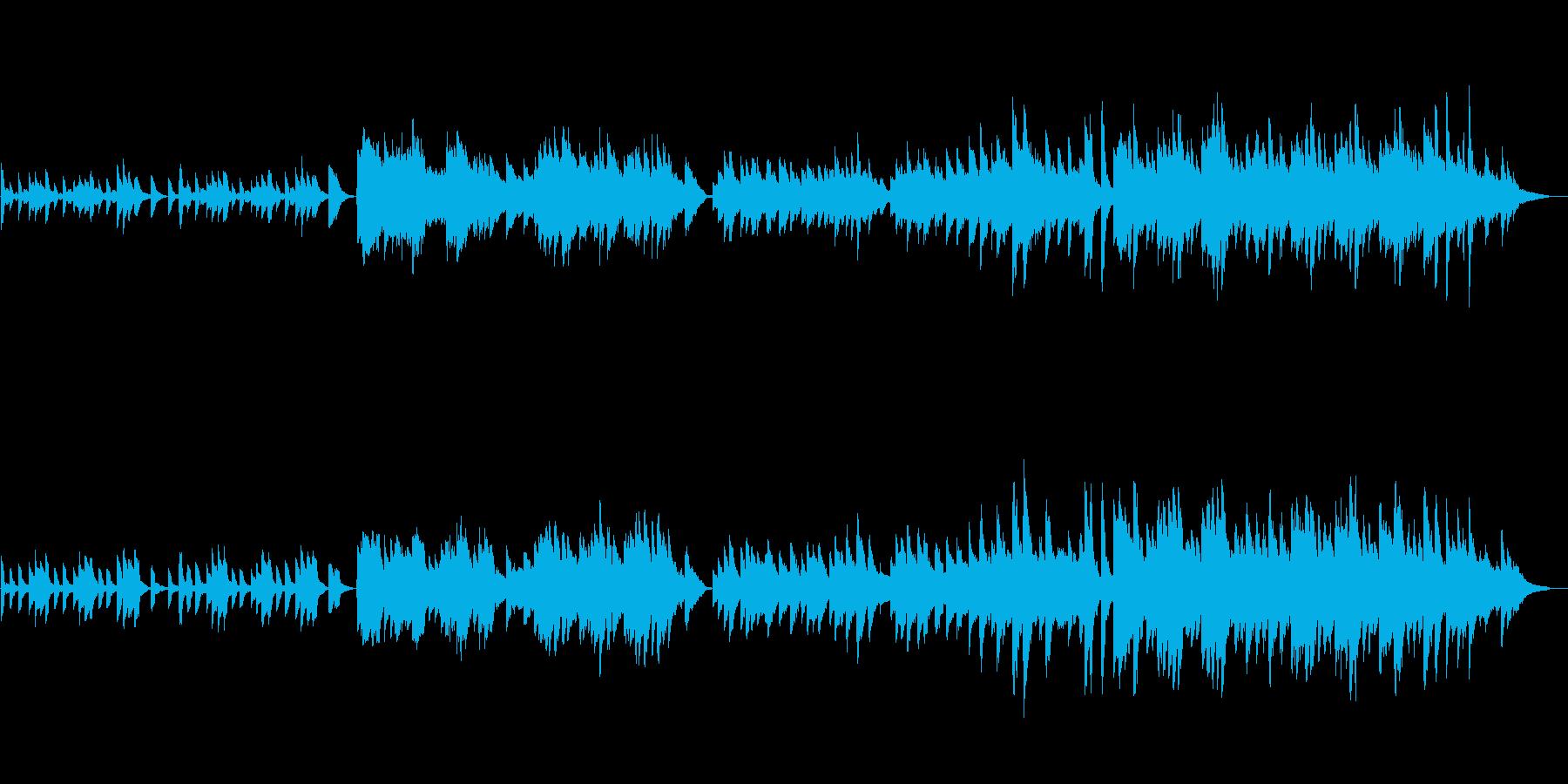 明るめのピアノソロBGM(約1分30秒)の再生済みの波形