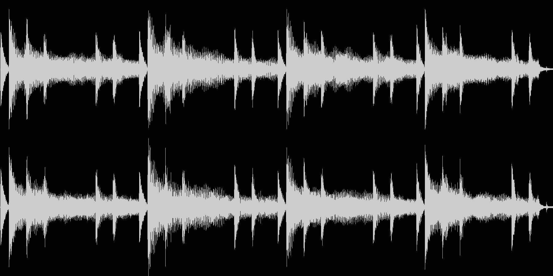 エレピをメインにしたバラード:ループ系の未再生の波形