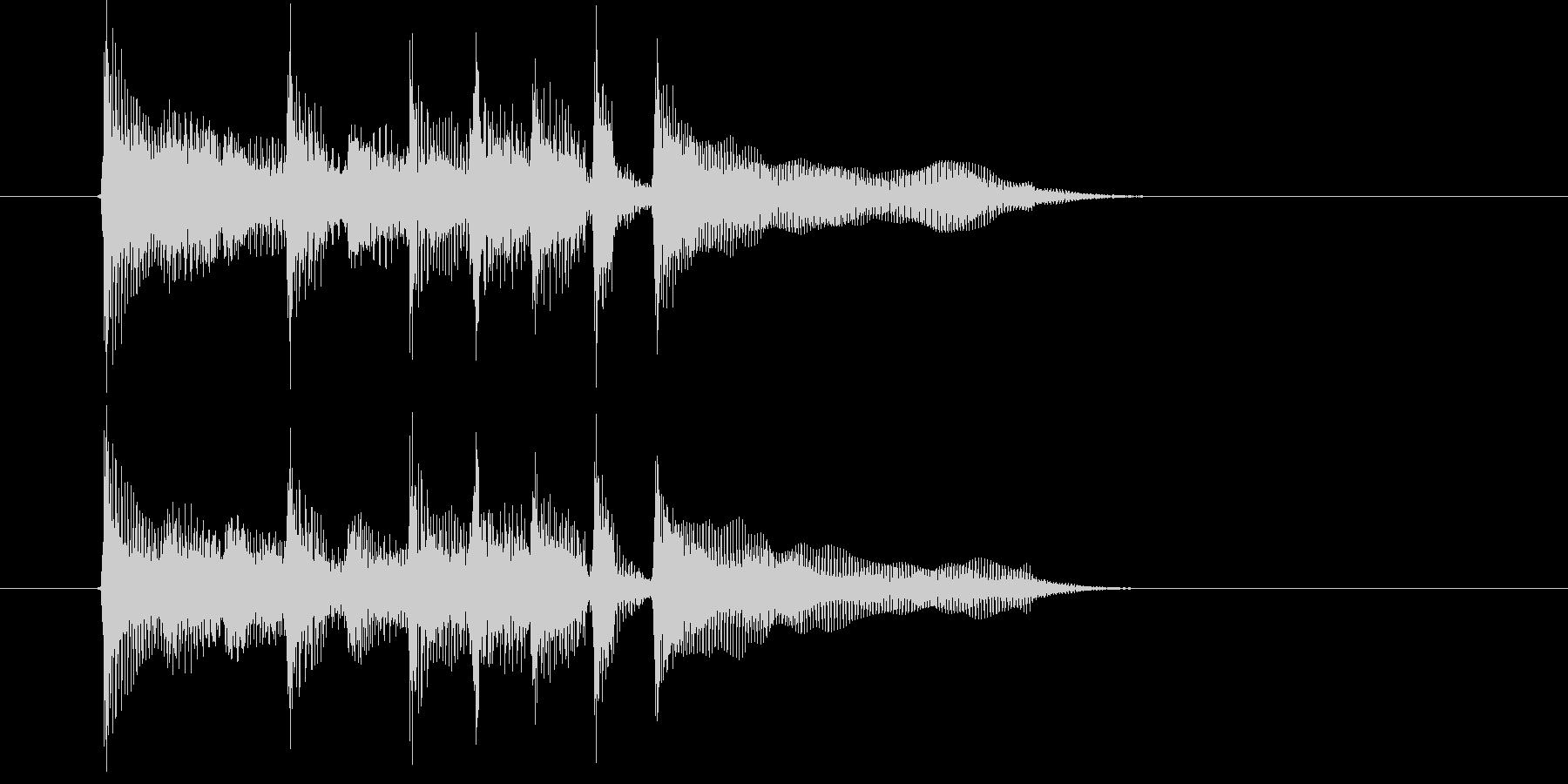緩やかでキャッチ―なシンセジングルの未再生の波形