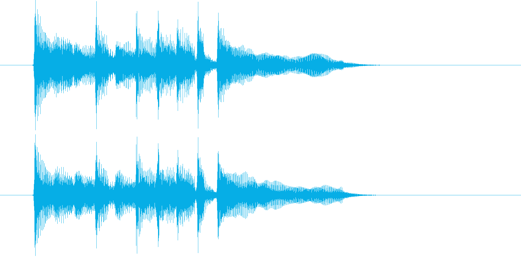 緩やかでキャッチ―なシンセジングルの再生済みの波形