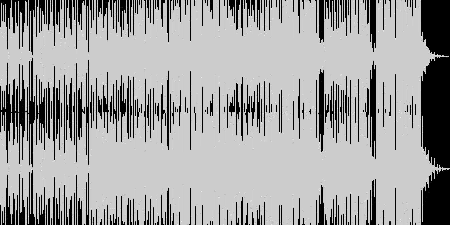 ヒップホップ系ハードなエレクトロニカの未再生の波形