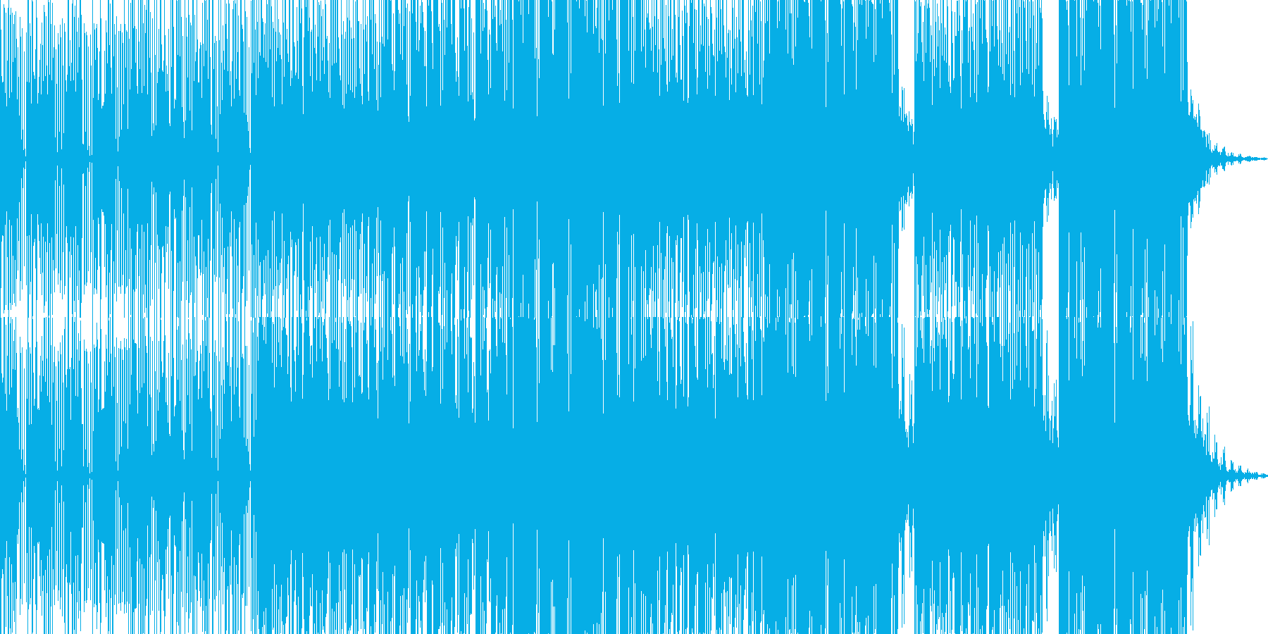 ヒップホップ系ハードなエレクトロニカの再生済みの波形