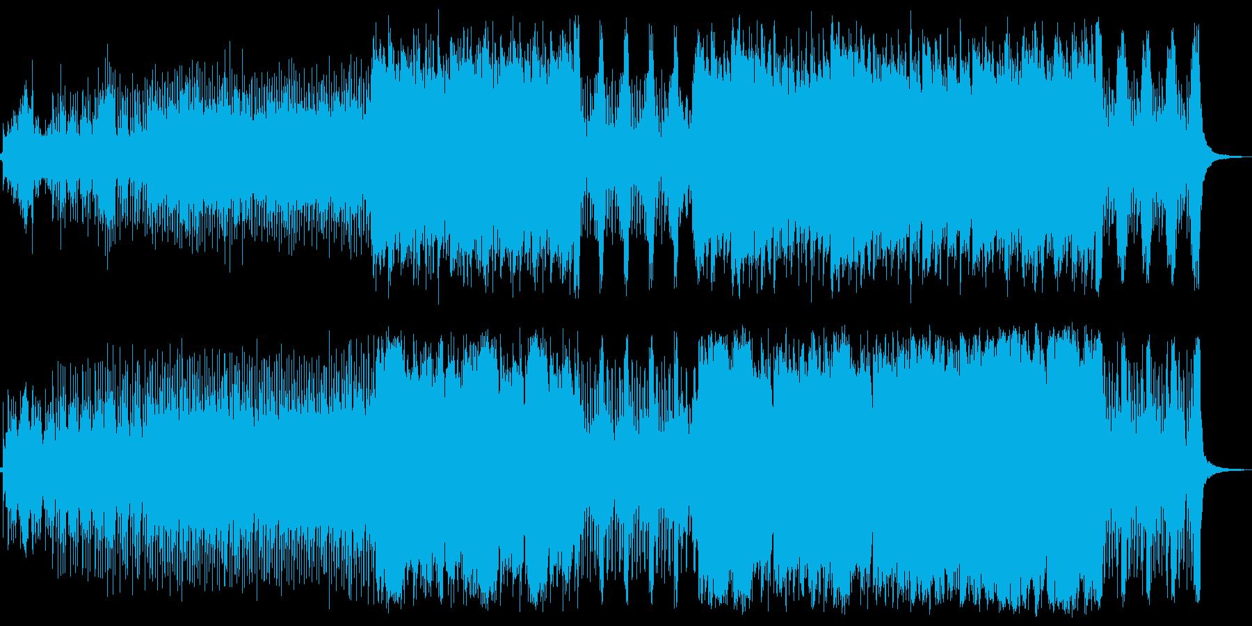 ジャングルのシーンBGMの再生済みの波形