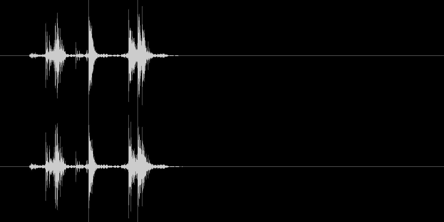カチャチャッ!(軽い金属音)の未再生の波形